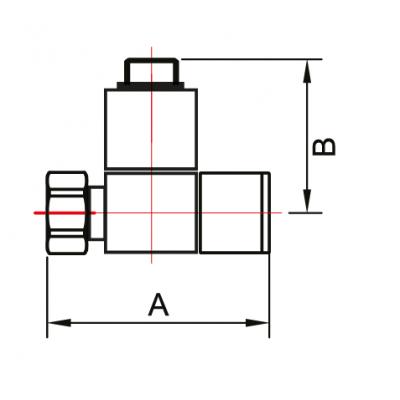 """Кран-Вентиль для полотенцесушителя угловой/квадрат ручка квадратная с отражателем 3/4""""х1/2"""" г/ш"""