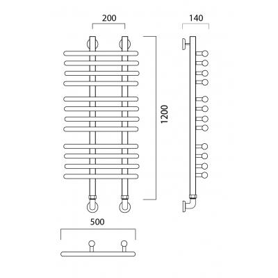 Водяной полотенцесушитель Роснерж NEO 3 L110000 120x50 групповой