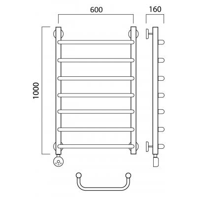 Электрический полотенцесушитель Роснерж Скоба L202000 100x60