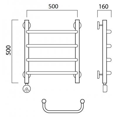 Электрический полотенцесушитель Роснерж Скоба L202000 50x50