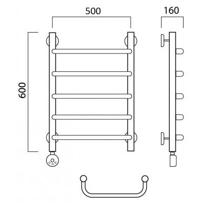 Электрический полотенцесушитель Роснерж Скоба L202000 60x50