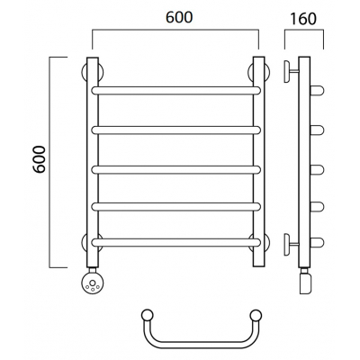 Электрический полотенцесушитель Роснерж Скоба L202000 60x60