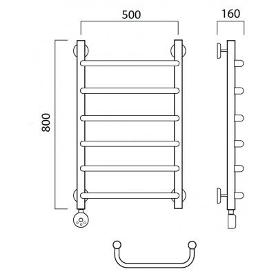 Электрический полотенцесушитель Роснерж Скоба L202000 80x50