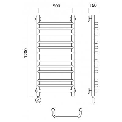 Электрический полотенцесушитель Роснерж Скоба L202010 120x50 групповой