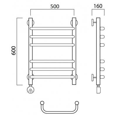 Электрический полотенцесушитель Роснерж Скоба L202010 60x50 групповой