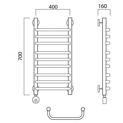 Электрический полотенцесушитель Роснерж Скоба L202010 70x40 групповой