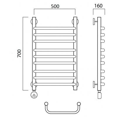 Электрический полотенцесушитель Роснерж Скоба L202010 70x50 групповой