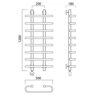 Электрический полотенцесушитель Роснерж Аврора L203000 120x50