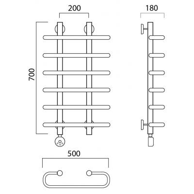 Электрический полотенцесушитель Роснерж Аврора L203000 70x50