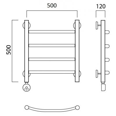 Электрический полотенцесушитель Роснерж Дуга L204000 50x50