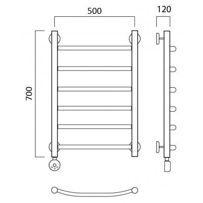 Электрический полотенцесушитель Роснерж Дуга L204000 70x50