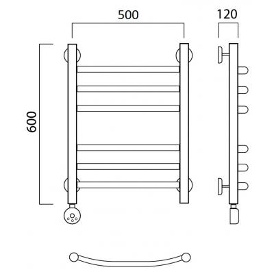 Электрический полотенцесушитель Роснерж Дуга L204010 60x50 групповой