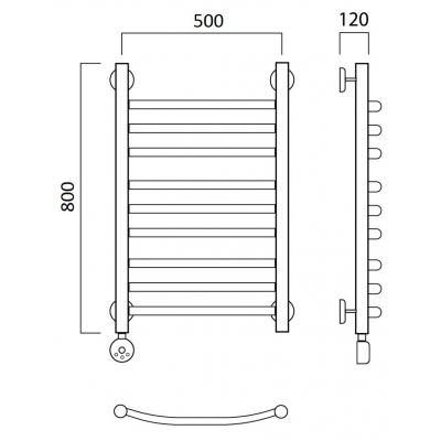 Электрический полотенцесушитель Роснерж Дуга L204010 80x50 групповой