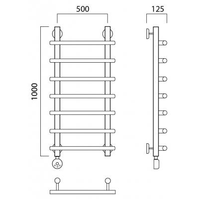 Электрический полотенцесушитель Роснерж Нео 1 L206000 100x50