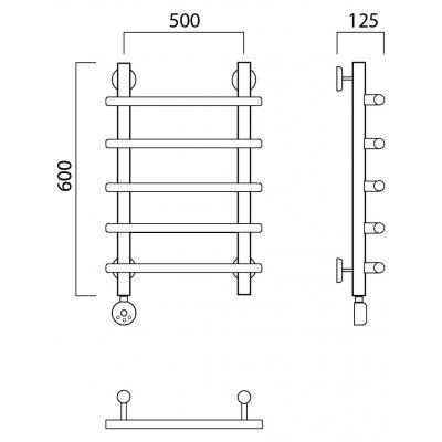 Электрический полотенцесушитель Роснерж Нео 1 L206000 60x50