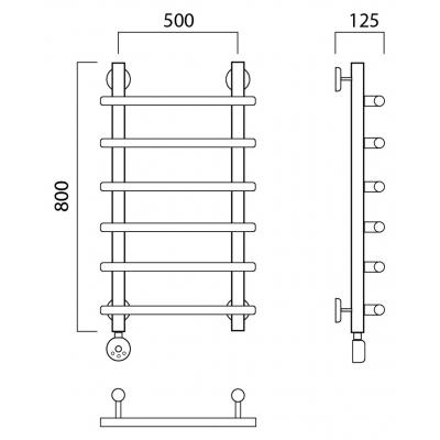Электрический полотенцесушитель Роснерж Нео 1 L206000 80x50