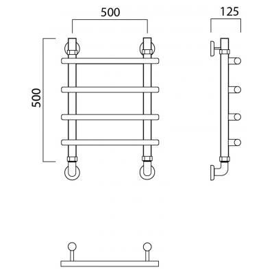 Водяной полотенцесушитель Роснерж Нео 1 L106000 50x50