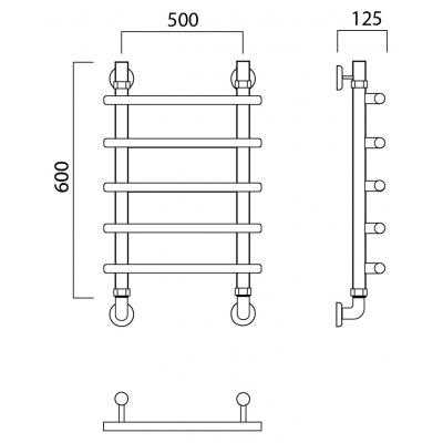 Водяной полотенцесушитель Роснерж Нео 1 L106000 60x50
