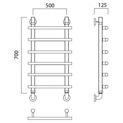 Водяной полотенцесушитель Роснерж Нео 1 L106000 70x50