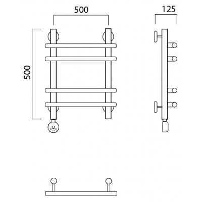 Электрический полотенцесушитель Роснерж Нео 1 L206010 50x50 групповой