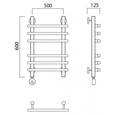 Электрический полотенцесушитель Роснерж Нео 1 L206010 60x50 групповой