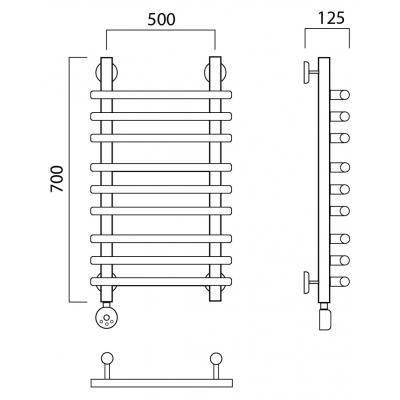 Электрический полотенцесушитель Роснерж Нео 1 L206010 70x50 групповой