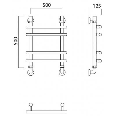 Водяной полотенцесушитель Роснерж Нео 1 L106010 50x50 групповой