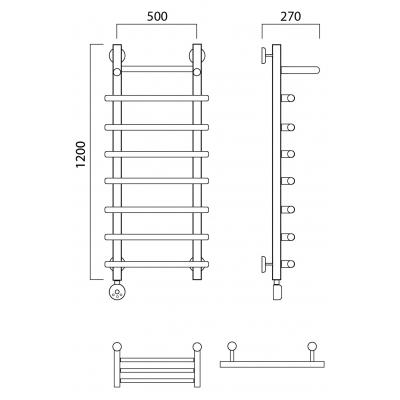 Электрический полотенцесушитель Роснерж Нео 1 L206100 120x50 с полкой
