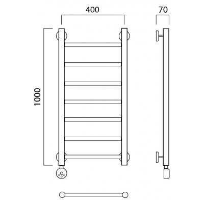 Электрический полотенцесушитель Роснерж Прямая L207000 100x40