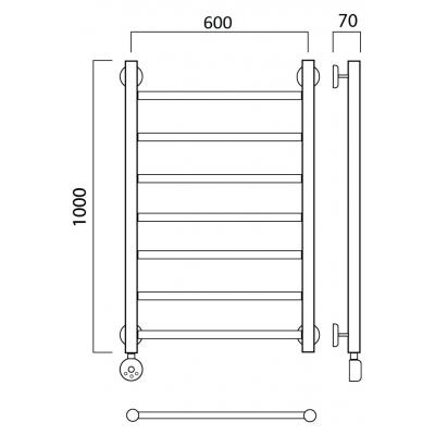 Электрический полотенцесушитель Роснерж Прямая L207000 100x60