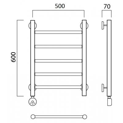 Электрический полотенцесушитель Роснерж Прямая L207000 60x50