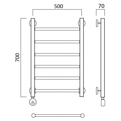 Электрический полотенцесушитель Роснерж Прямая L207000 70x50