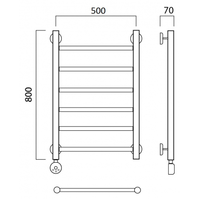 Электрический полотенцесушитель Роснерж Прямая L207000 80x50