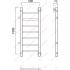 Водяной полотенцесушитель Роснерж Прямая L107001 100x50 с боковым подключением