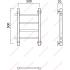 Полотенцесушитель Роснерж Прямая L107001 50x50 с боковым подключением