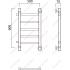 Водяной полотенцесушитель Роснерж Прямая L107001 60x50 с боковым подключением