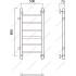 Водяной полотенцесушитель Роснерж Прямая L107001 80x50 с боковым подключением