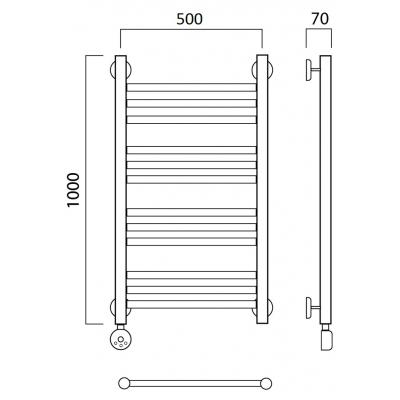 Электрический полотенцесушитель Роснерж Прямая L207010 100x50 групповой