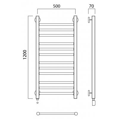 Электрический полотенцесушитель Роснерж Прямая L207010 120x50 групповой
