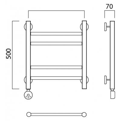 Электрический полотенцесушитель Роснерж Прямая L207010 50x50 групповой
