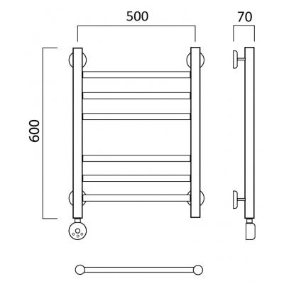 Электрический полотенцесушитель Роснерж Прямая L207010 60x50 групповой