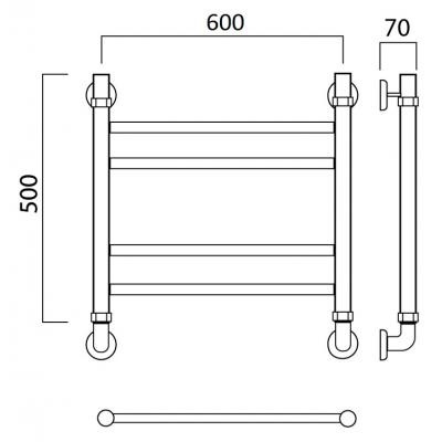 Полотенцесушитель Роснерж Прямая L107010 50x60 групповой