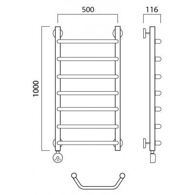 Электрический полотенцесушитель Роснерж Трапеция L208000 100x50