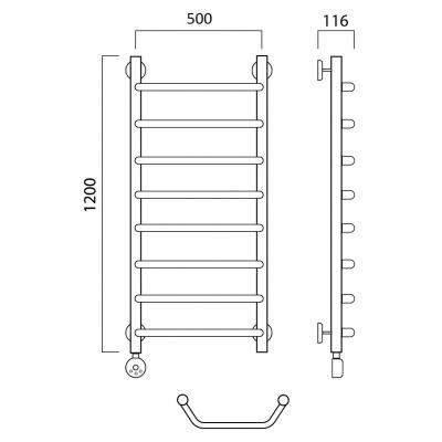 Электрический полотенцесушитель Роснерж Трапеция L208000 120x50