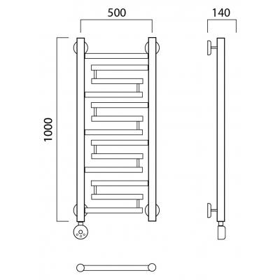 Электрический полотенцесушитель Роснерж Нео 2 L209000 100x50