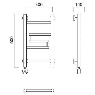 Электрический полотенцесушитель Роснерж Нео 2 L209000 60x50