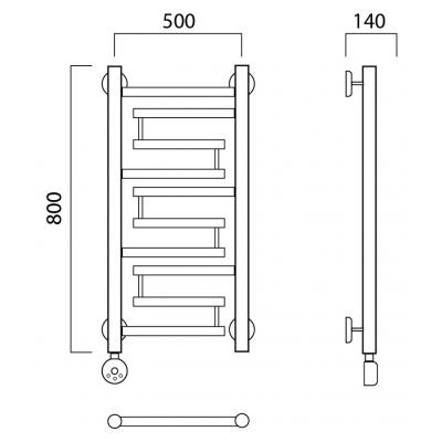 Электрический полотенцесушитель Роснерж Нео 2 L209000 80x50