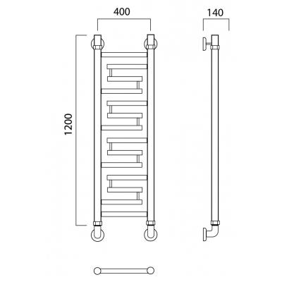 Водяной полотенцесушитель Роснерж Нео 2 L109000 120x40