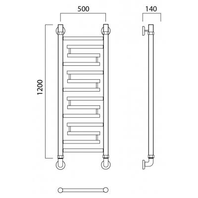 Водяной полотенцесушитель Роснерж Нео 2 L109000 120x50