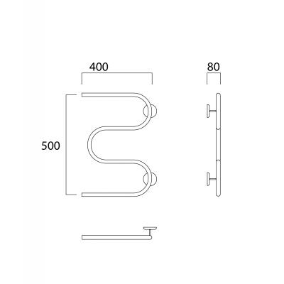 Водяной полотенцесушитель Роснерж М образный M101000 50x40